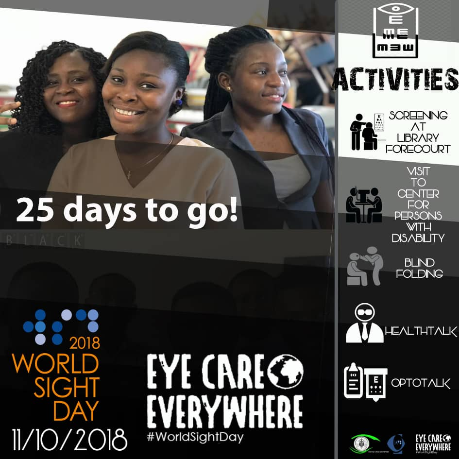 RT @optometry_ucc: 25 days more. #worldsightday #optometry https://t.co/Rf9YmoUSSe