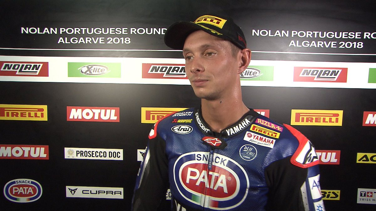 "test Twitter Media - .@mickeyvdmark ""It's a really important podium for us""  #PortimaoWorldSBK   📽 INTERVIEW 