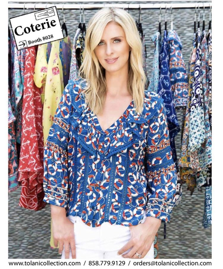 .@NickyHilton will be at #COTERIE today from 1-3 pm at Booth 8028! #NHxTolani https://t.co/Cllmvz6J9K