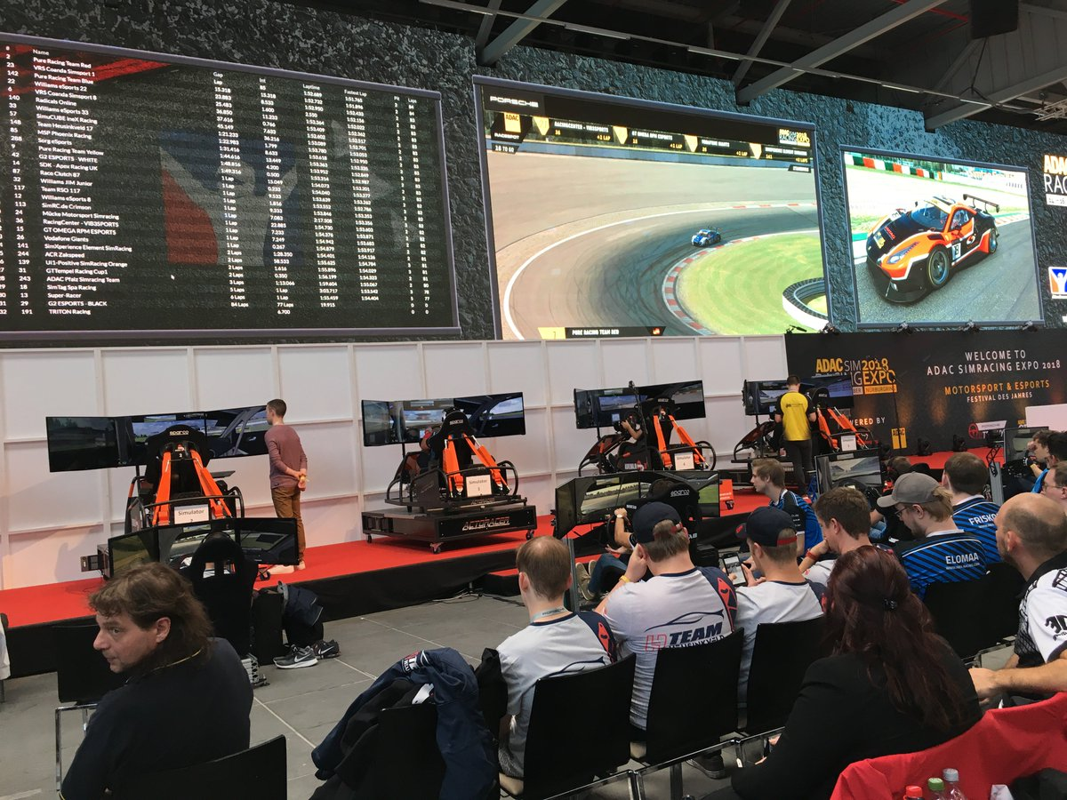 test Twitter Media - Live @SimRacingExpo in Nürburgring, Germany, 10 players are competing in this unique Esports race, while 2 of them are racing on a #SimTag  simulator fully motion by D-BOX. Good luck to everyone!  #feelitall #motion #dbox #Esports https://t.co/iPPM0M1nWt