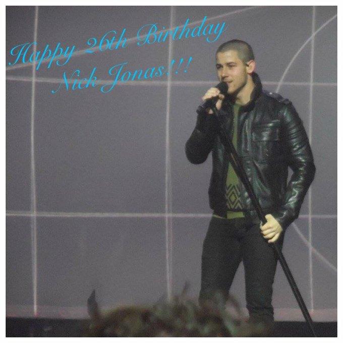 Happy 26th Birthday to Nick Jonas!!!
