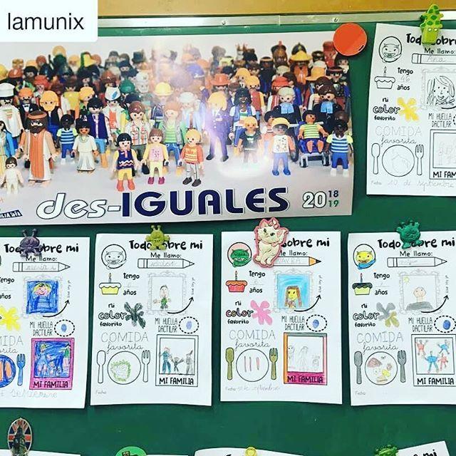 Qué ilusión ver que se usan las fichas @lamunix ¡Muchas gracias!! ・・・ Somos iguales, somos diferentes #des_iguales https://t.co/UrMELCtMdF