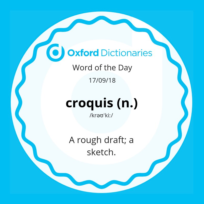 test Twitter Media - Word of the Day: croquis -  a rough draft; a sketch.  https://t.co/nLX5UOlYN6 https://t.co/eVNRfu4ccK
