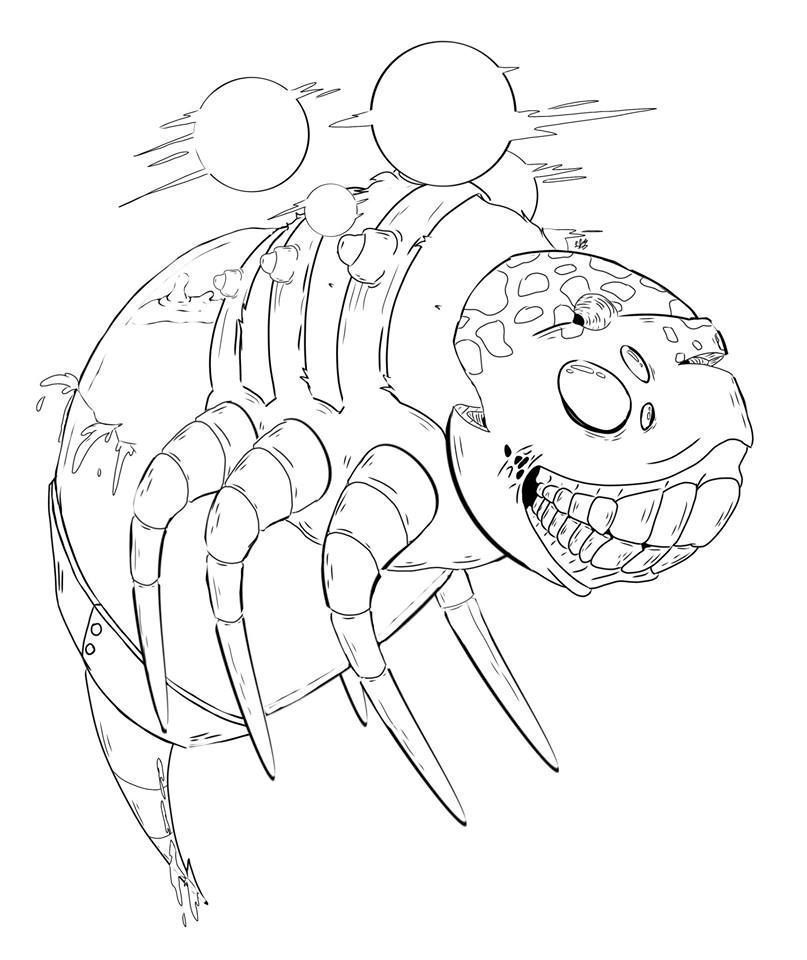 Someone wanna color this creature in? https://t.co/F0VREl7sBh https://t.co/s6CPKhllcR