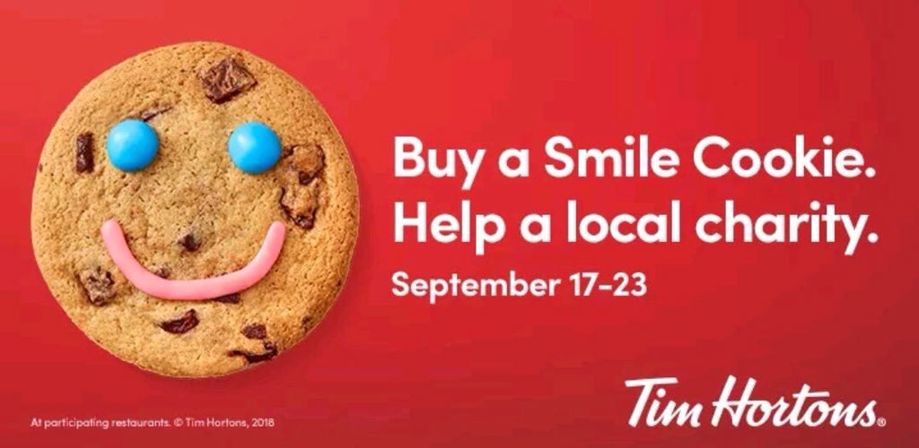 test Twitter Media - RT @WindsorPolice: It's back!  Support local charities and enjoy a delicious #SmileCookie 😋 Win Win! @TimHortons https://t.co/LSNnyfQaAs