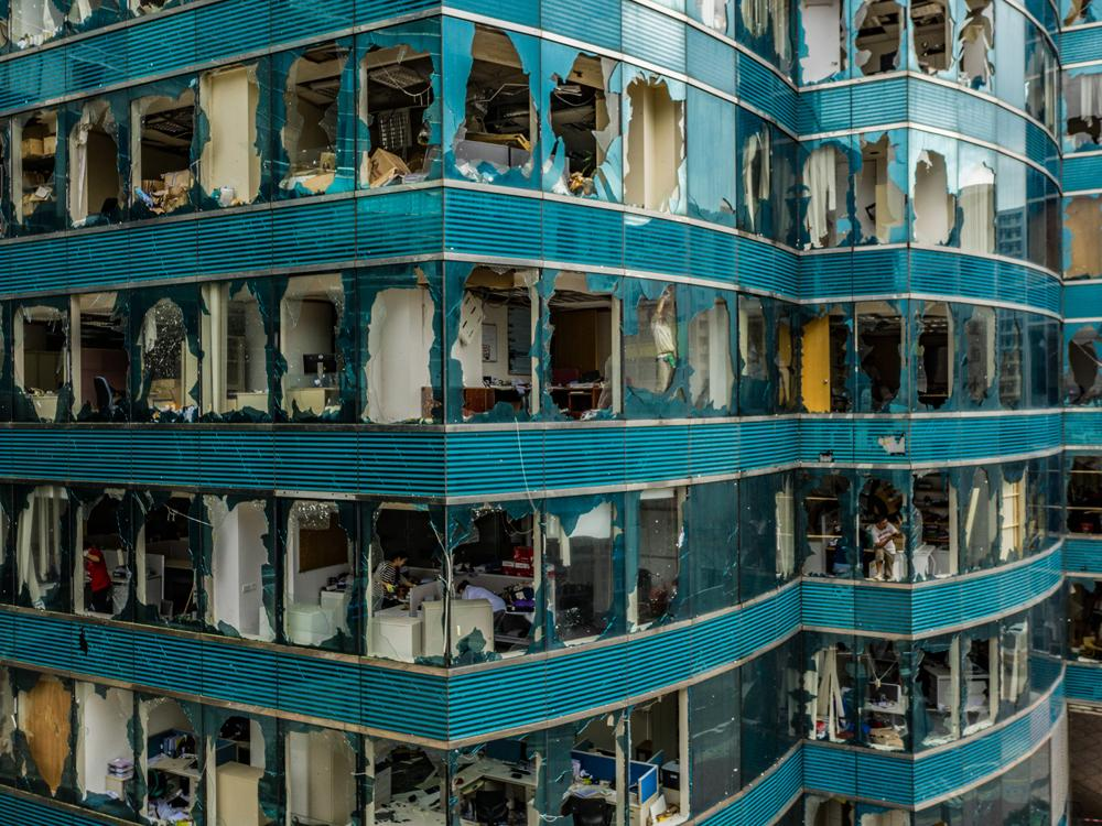Dramatic pictures show Typhoon Mangkhut's damage in hyper-dense Hong Kong