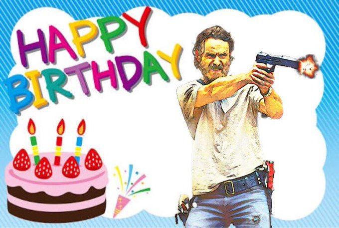 Happy bday! Andrew Lincoln. Have a blast