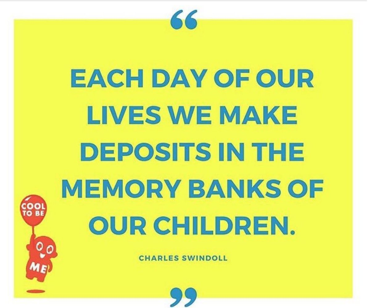 test Twitter Media - Each day of our lives we make deposits in the memory banks of our children. - Charles Swindoll https://t.co/T5CDjZb0cb