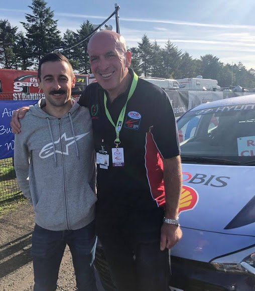 test Twitter Media - August: @eugenelaverty comes to Dundrod. Gets a pep talk and a photo with the Clerk of the Course, Noel Johnston.  September: Sets pole next time out in @WorldSBK.   Coincidence? We think not! 😂 https://t.co/RHi1s7Ay3Y