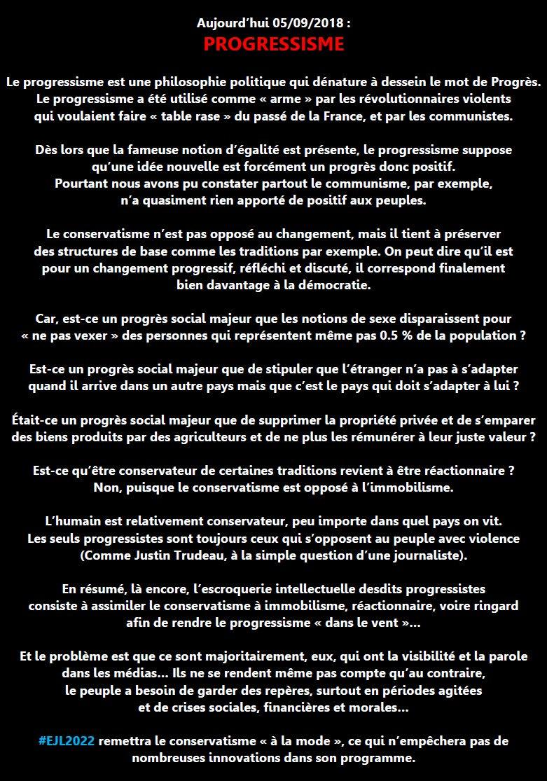 RT @Mmederenalfr: @claudecamille13 @actuzemmour Définition du progressisme https://t.co/PIfSPcBcJi