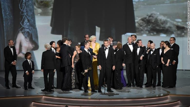 """""""Game of Thrones"""" reigns again, reclaiming the best drama award at the"""