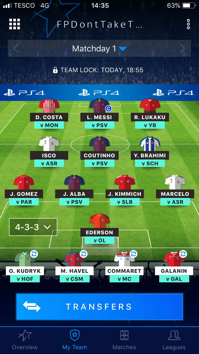 RT @FPDontTakeTheL: @FPLUNIQUE A very rushed squad but I don't think it's too bad😂 https://t.co/SNgyKZaxXU