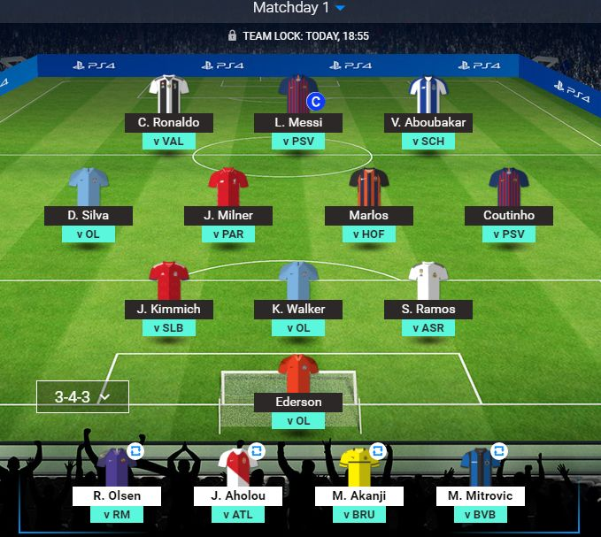 My team for the #UCLFantasy. Let's see yours #FPL Managers. https://t.co/kkDAgcsNDR