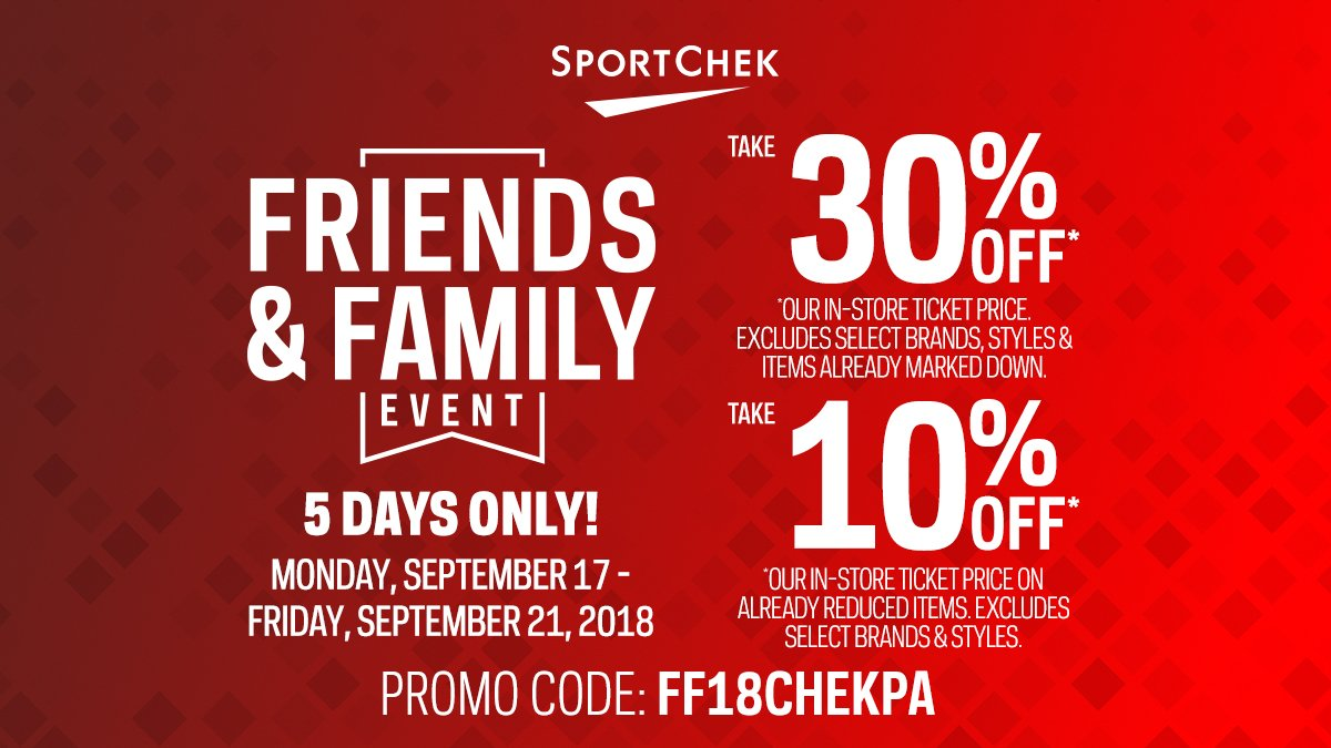 test Twitter Media - Until September 21st, take advantage of @SportChek's Friends & Family Event (in-store and online)! https://t.co/auitDhZ1CQ https://t.co/fptaHxDFOm