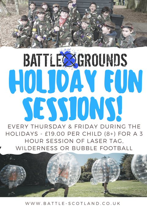 Image for It's a few weeks til the October holidays & we're launching our adventure days for kids 8+ Book in for a 3 hour session from 10:00-13:00 for laser tag or 13:00-16:00 for wilderness challange or book both! Each session costs £19.00. Click for more info