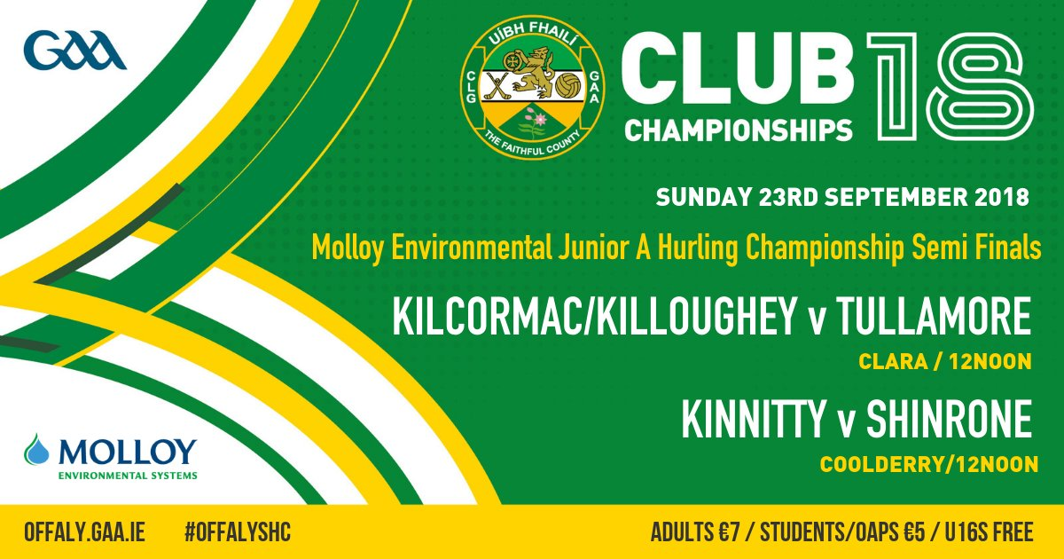 test Twitter Media - With our Finals only around the corner, it is massive weekend across the County as our Senior, Senior B, Intermediate & Junior A Hurling @MolloyPrecast semis take place #OffalyHC2018 #NothingBeatsBeingThere @gaaleinster @coolderrygaa @strynaghs @belmont_gaa @KK_GAA @officialgaa https://t.co/ImDhDdlpDI
