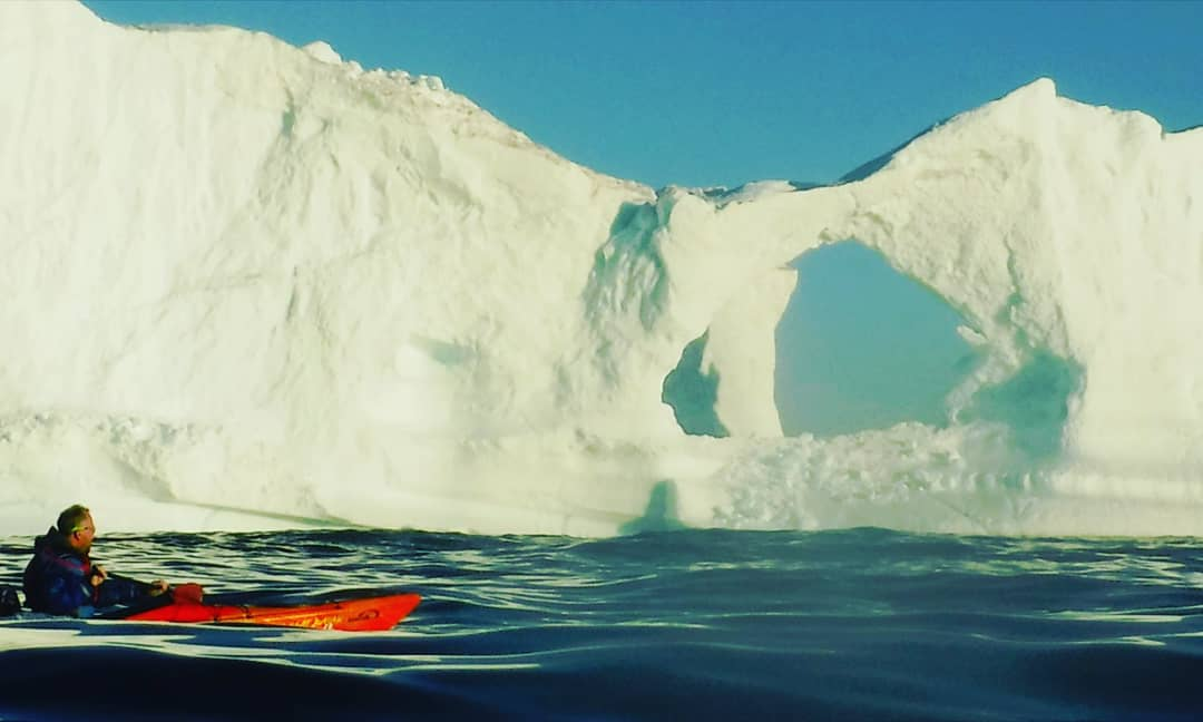 test Twitter Media - A4. Incredible beauty an inspiring thing which I seek while travelling. This was a moment of awe. It is me kayaking between icebergs in Greenland. It also inspires and educates about sustainable lifestyle to try and protect our lonely, unique, blue planet @FuninFairfax #TRLT https://t.co/NLNBXed2YP