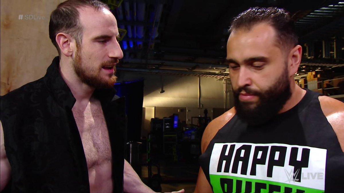 RT @WWE: NOT a Happy #RusevDay...  #SDLive @RusevBUL @WWEDramaKing @LanaWWE https://t.co/3DJgABYHZW