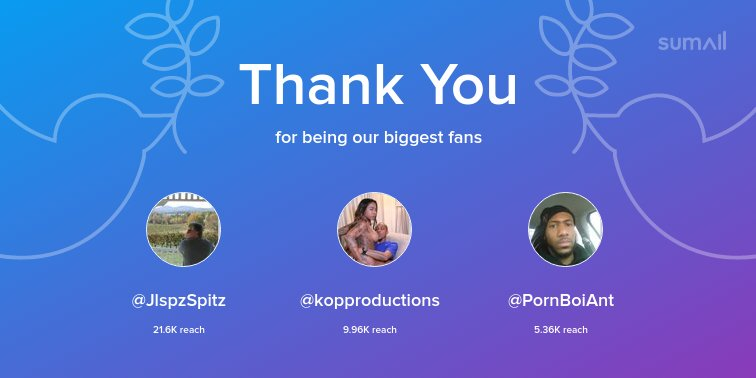 Our biggest fans this week: , , Thank you! via yNc4t3wzB1