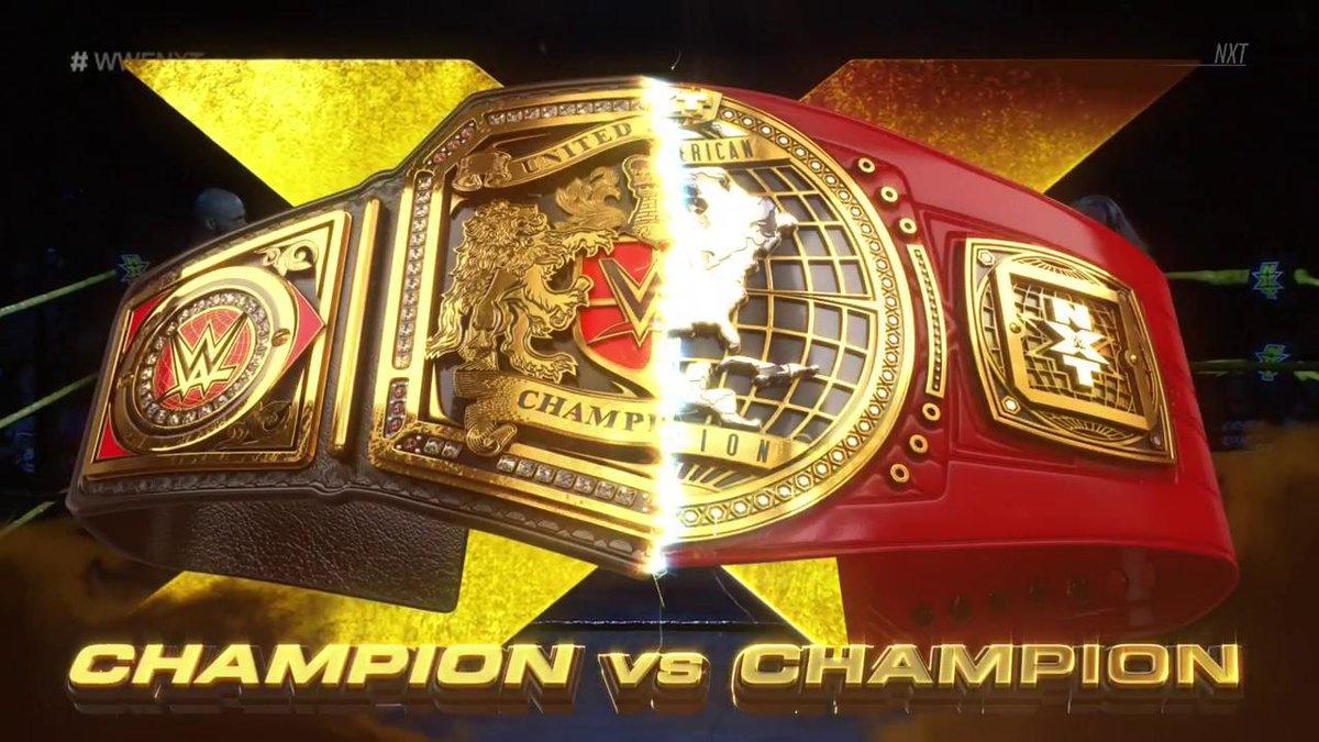 RT @WWE: #ChampionvsChampion. Winner takes all.  It's happening RIGHT NOW on @WWENetwork! #WWENXT https://t.co/dAuyj2sZZS
