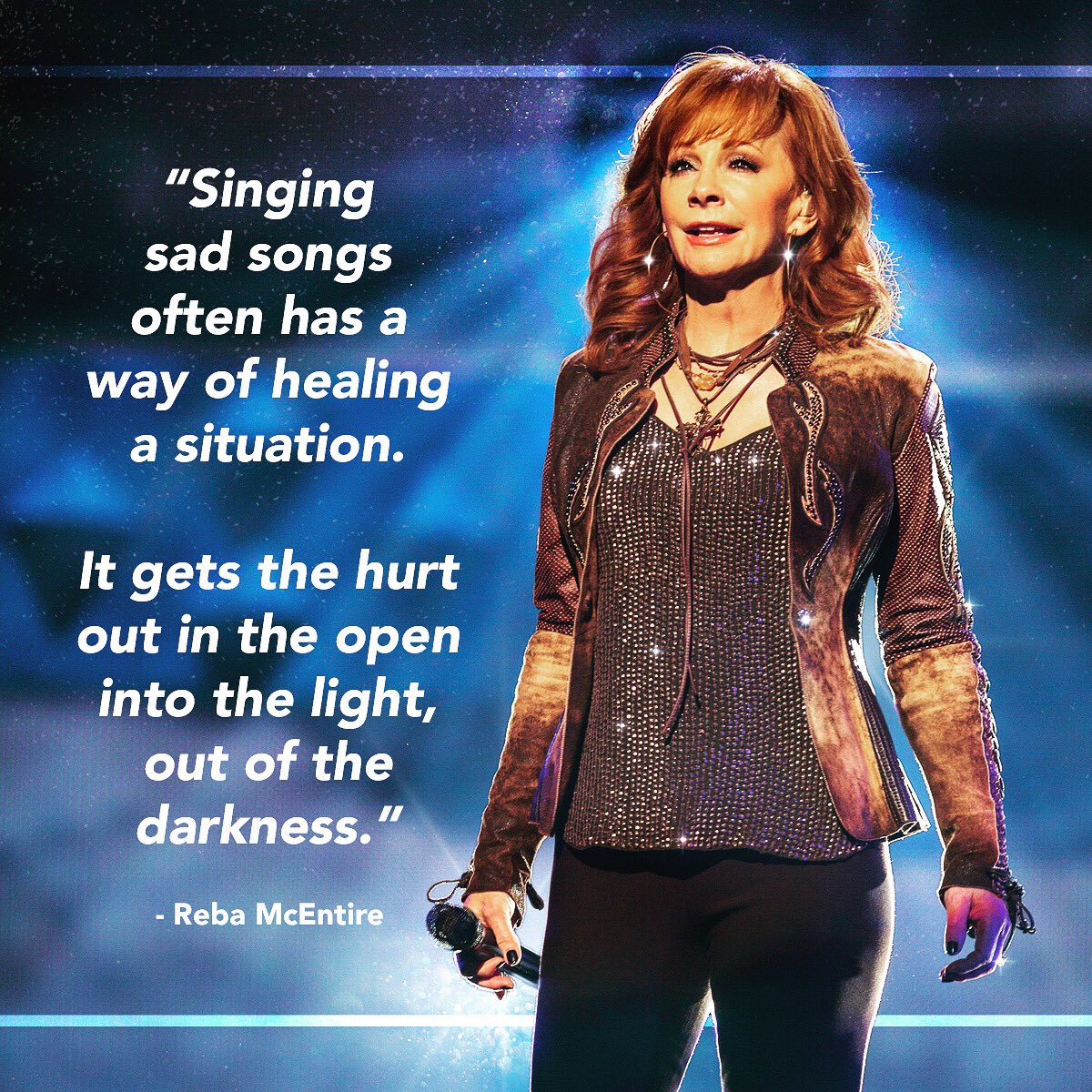 RT @reba: Singing sad songs often has a way of healing a situation. #WednesdayWisdom https://t.co/1JB4IgeYdm