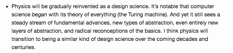 test Twitter Media - On physics as a design science. One of my favourite distinctions is Herb Simon's distinction between sciences of the natural & sciences of the artificial. I wonder if physics might actually transition from one to the other? https://t.co/Cim23RdVAo