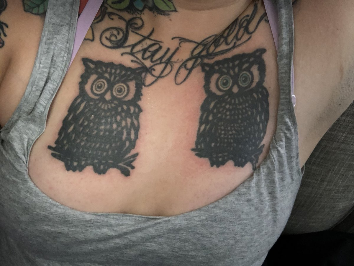 Second session done on the owls for removal. My skin hates me QPVJNBdles