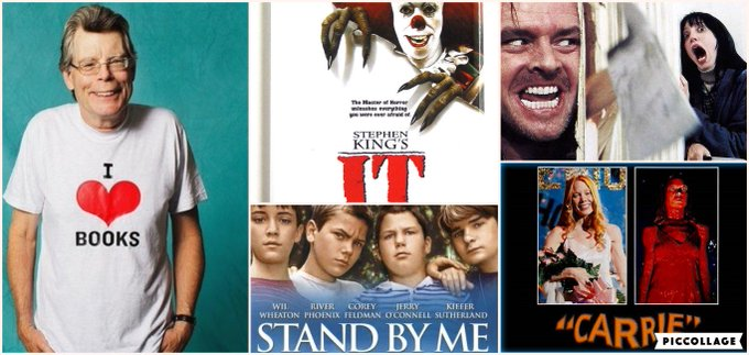 Happy Birthday to The King Of Horror, Stephen King.   Here are my four favorite screen adaptations of King.