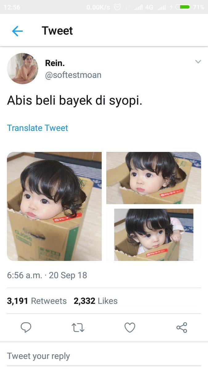RT @BayRiper: Di sebuah reply foto paket berisi bayi. @InfoTwitwor https://t.co/Z3lrdjc7TM