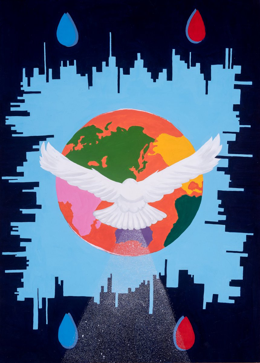 """test Twitter Media - """"Peace outweighs any dark world."""" 2017-18 #PeacePoster Merit Winner Chihiro Suda, 13 years old, sponsored by Akita Senpoku Lions Club (Japan). Happy #InternationalDayofPeace! Sponsor a contest ☮️🎨🦁 - https://t.co/gKy11dN8Ly #PeaceDay https://t.co/HuGxvw4DLS"""