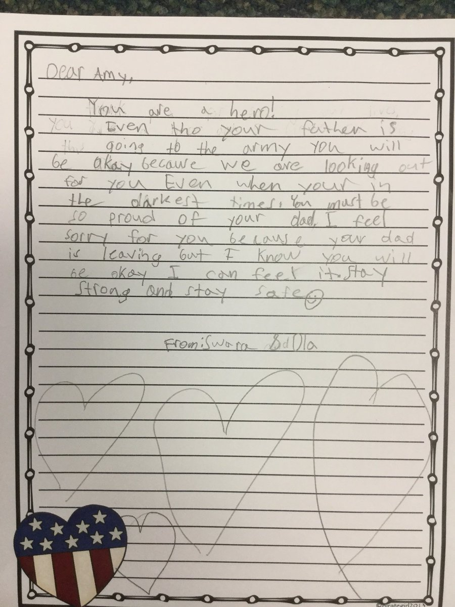 test Twitter Media - Sending Major Hillmann off on his deployment with kind words from Wescott- Thank you to all of the participating classrooms! @WescottSL @Wescott4S #d30learns #choosekind https://t.co/wryzEGoEpg