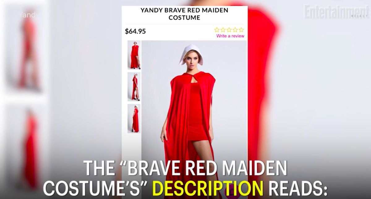 A sexy HandmaidsTale Halloween costume has been removed from a site after sparking outrage: