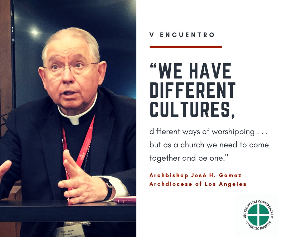 """test Twitter Media - .@ArchbishopGomez on #VEncuentro and the process of building one Church out of many cultures: """"We are supposed to come together."""" https://t.co/QgiTYc5iPz"""