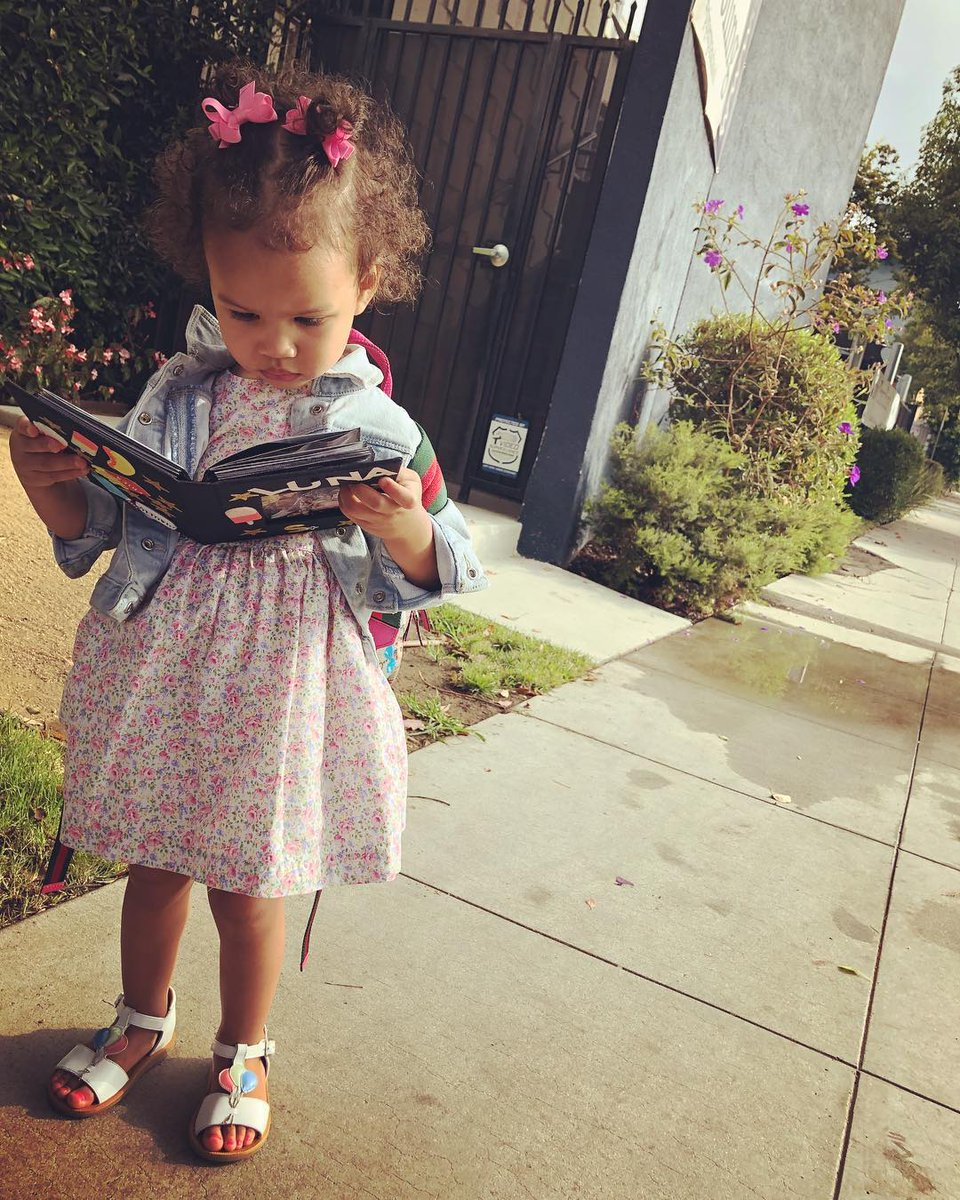 Luna just started preschool, and John Legend is gushing about it.