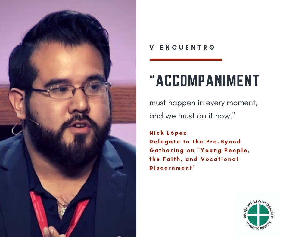 test Twitter Media - Nick López, pre-synod delegate, talking about the importance of accompaniment and encounter in the life of faith. https://t.co/vvhqH7xgQW