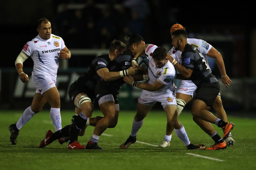 test Twitter Media - Exeter have made it four wins from four with victory over a stubborn Newcastle at Kingston Park.  Read👉https://t.co/P71QD7NZ9q https://t.co/N2K3pMNAdd
