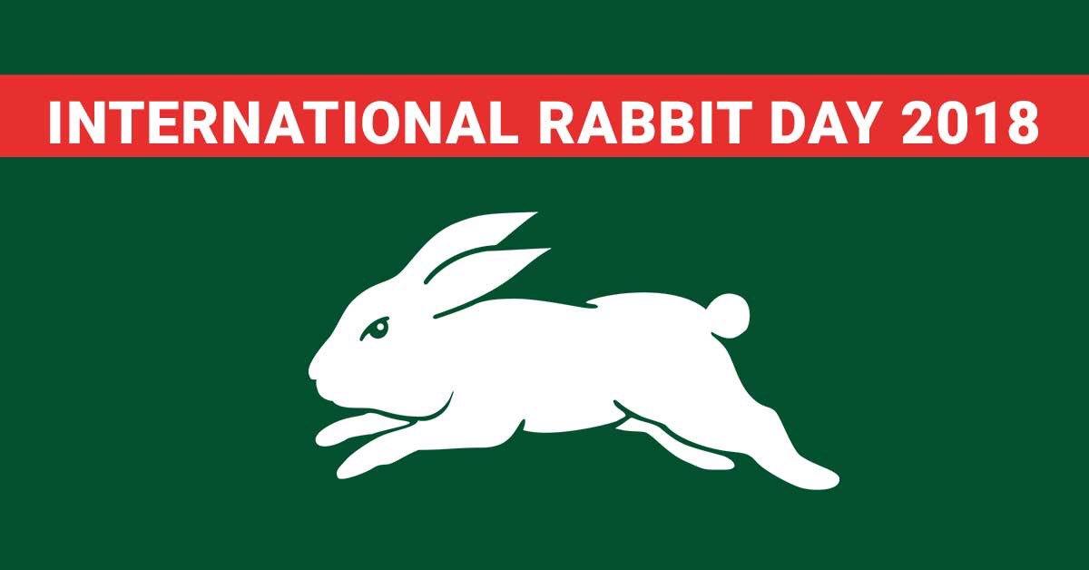 RT @SSFCRABBITOHS: Today is international rabbit day! #omen  #gorabbitohs #MadeForGlory https://t.co/zWBvwKm6XH