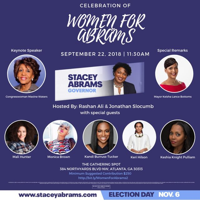 I stand with @staceyabrams.  ????????☑️ #Atlanta #Georgia #StaceyAbrams ???? https://t.co/lf3z0DPVtl