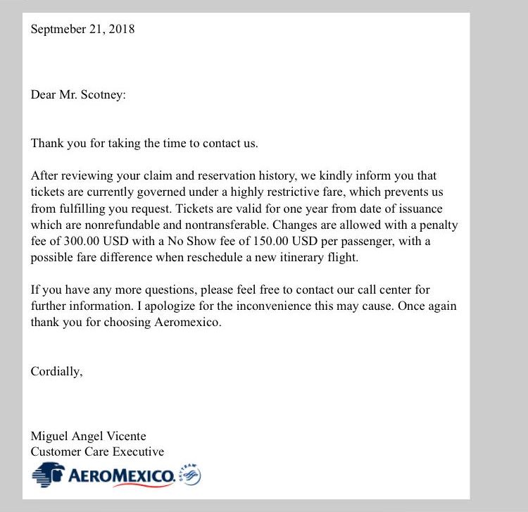 test Twitter Media - @Aeromexico #customerservice said I was due a refund, I'm flying in my third trimester (not advised without a medical note)to a country where I would be at risk of the Zika virus. Just got this response. What can I do? #flying #fly #holiday #vacation #travel #travellifestyle https://t.co/ZMRTbIu5Oq