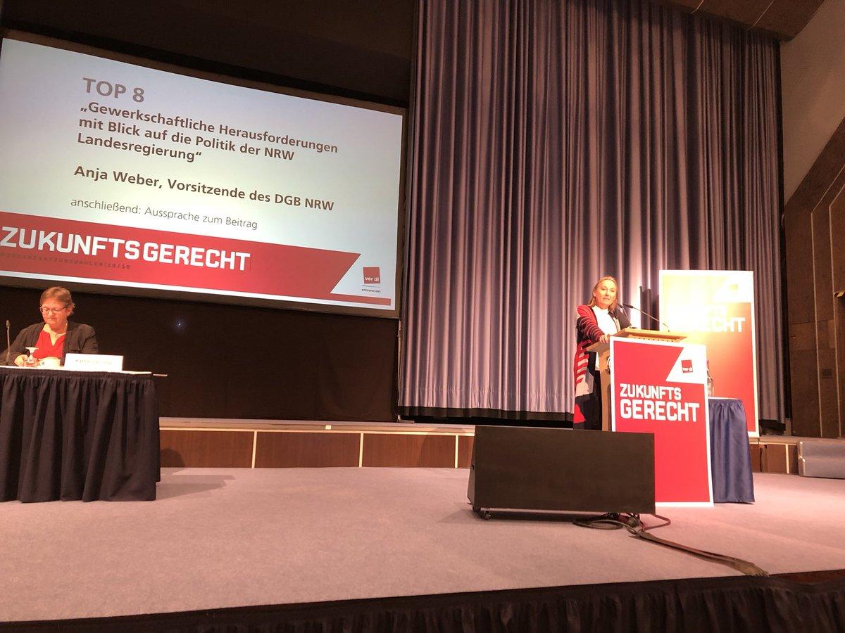 test Twitter Media - Gründungskonferenz des neuen Ver.di Bezirks Düssel Rhein Wupper in Hilden. Anja Weber, Vorsitzende des DGB NRW fordert den Rücktritt von Seehofer. https://t.co/Mqt081Y5uM