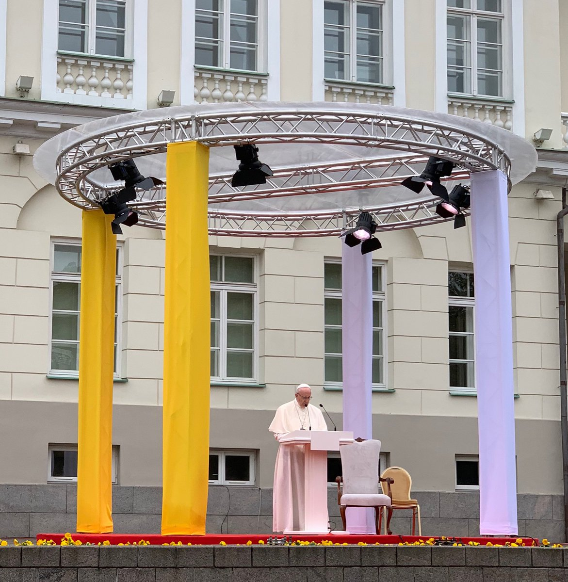 #PopeInBaltics