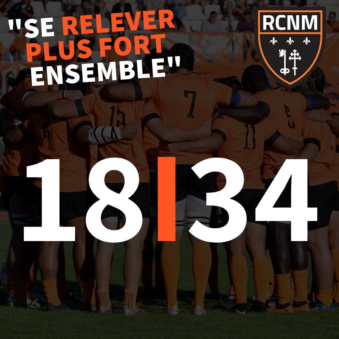 #ACRRCNM | FIN DU MATCH   Belle victoire de nos joueurs sur le score de 34-18...