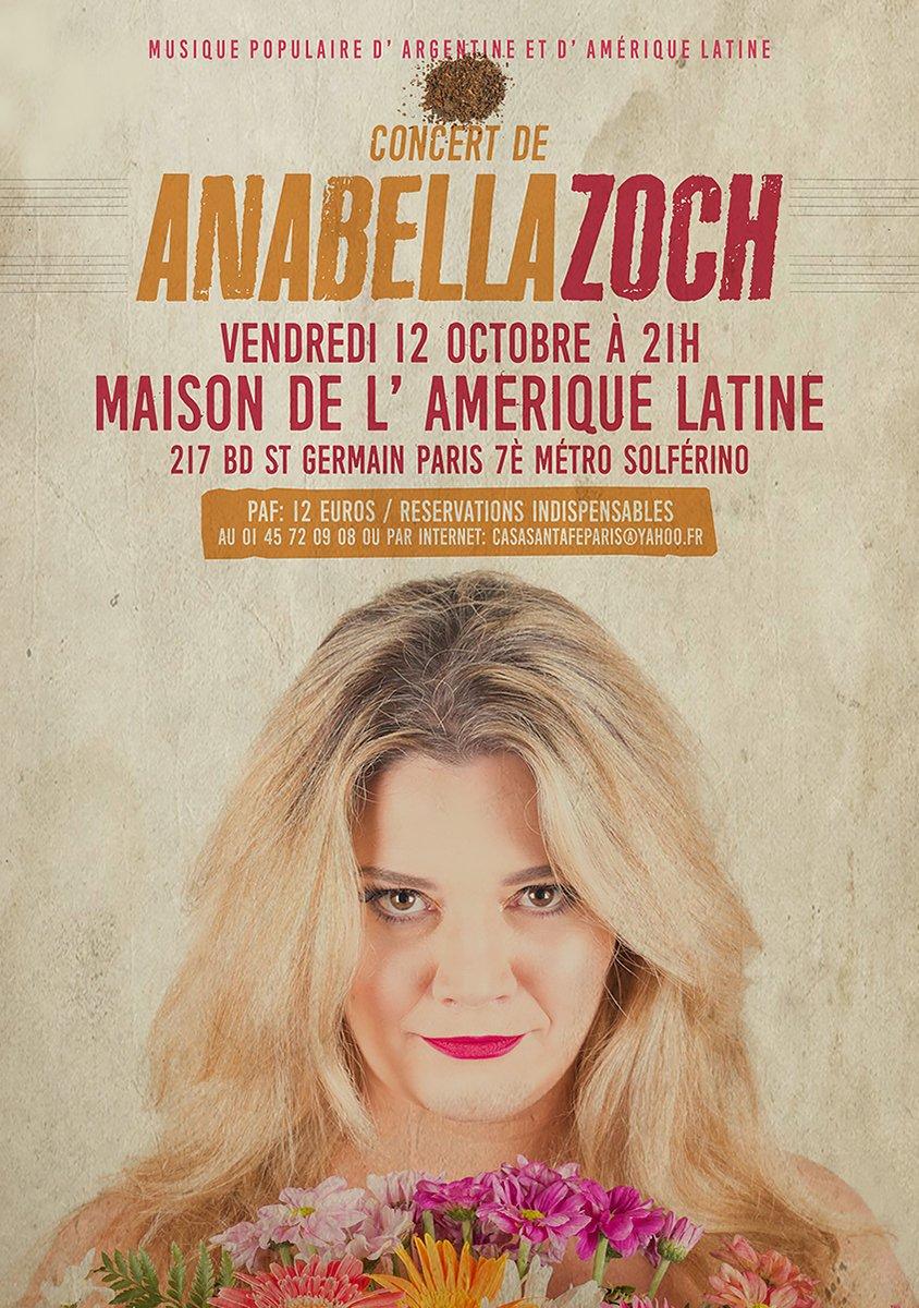 test Twitter Media - ANABELLA De l'Argentine à Paris, le 12 octobre, pour les amoureux de l'Amérique latine  @Paris @DeParisPalMundo @SemiParis @MAL_217 @GEGAmLat @FALNationale @LatinEuropeando @MusiquesSens @MundusMusica  @parismusic75 @tangofratres @RFI_Espanol @RFI @JordiBatalle @FranceArgentine https://t.co/QtNNCC49D2