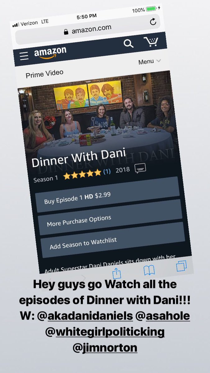 Everyone go watch #DinnerwithDani it's hilarious promise DEE2oN19aG