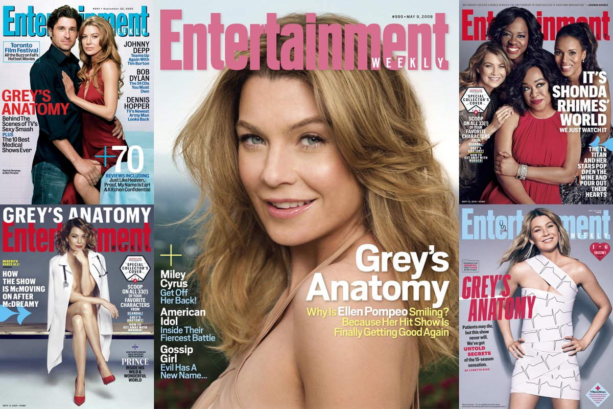 See all the times GreysAnatomy star @EllenPompeo has been on the cover of EW: