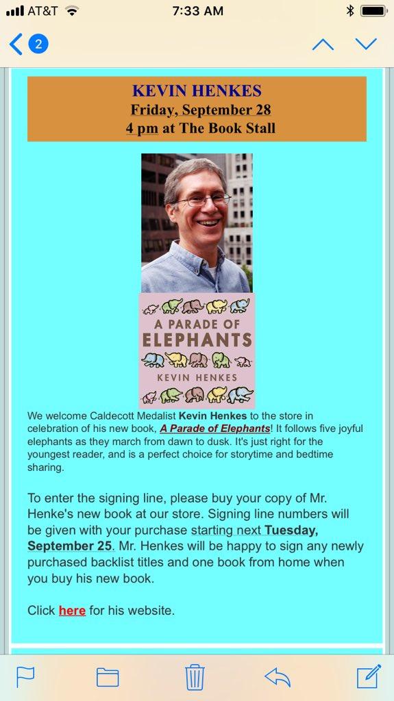 test Twitter Media - Meet Wemberly Worried author Kevin Henkes in Winnetka on Friday! #d30learns @thebookstall https://t.co/d0xr5Ne6oz