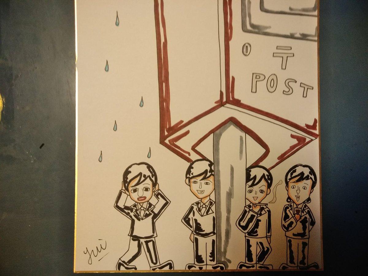 そしてローアングルの写真の中から試作・雨宿りするミニビートルズ☔  #Beatles #ビートルズ #PaulMcCarthy #試作...