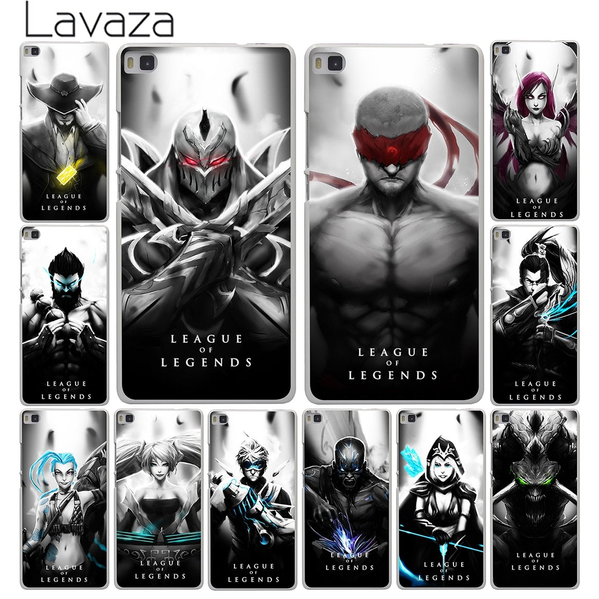 #League League of Legends Hero Black And White Cover Case for Huawei P10 P9 P...