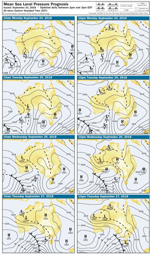 A high to the west of #Tasmania will dominate our...