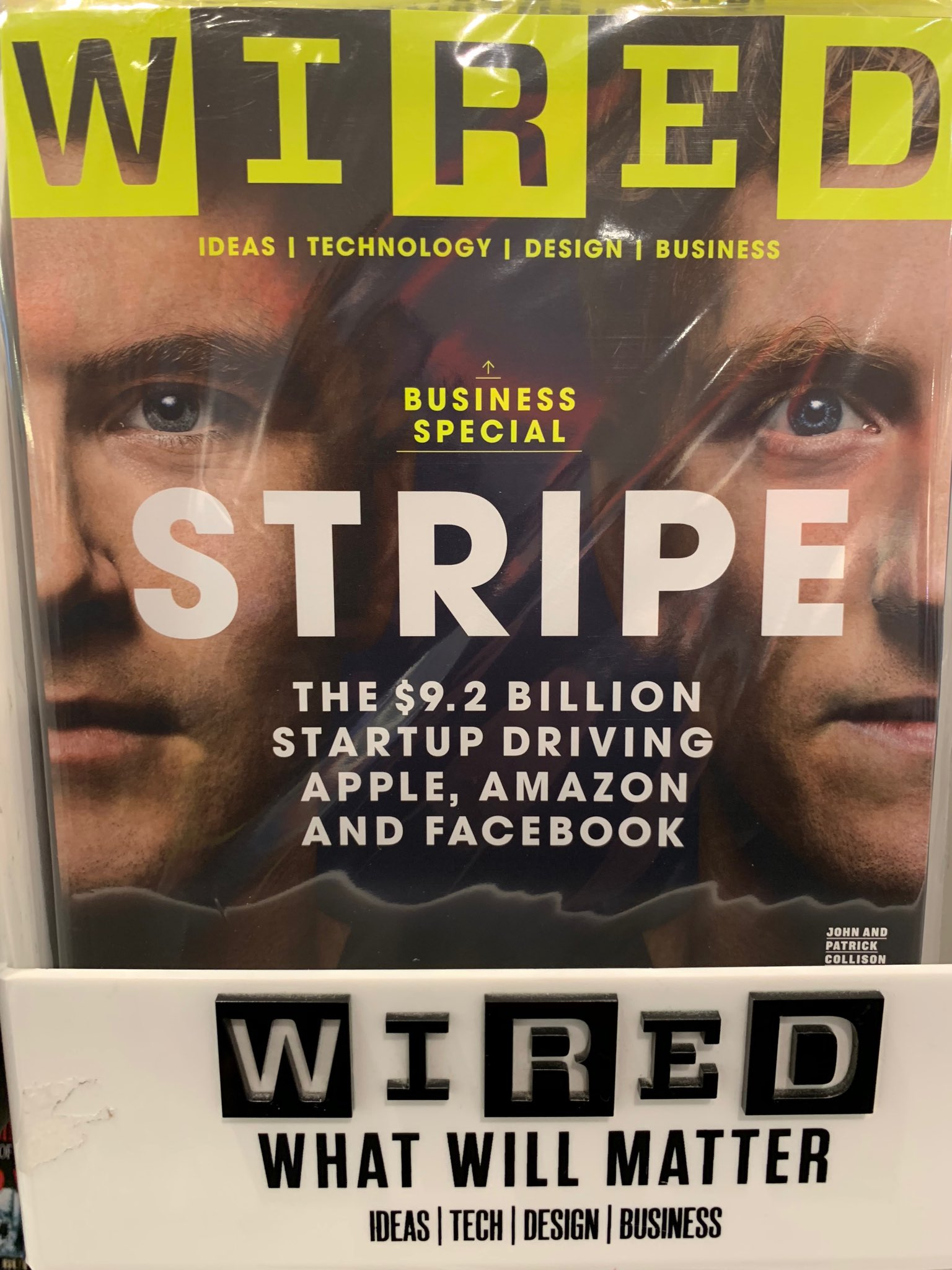 Great to see @patrickc @collision sharing the cover of @WiredUK @stripe https://t.co/54cJ3IEszy